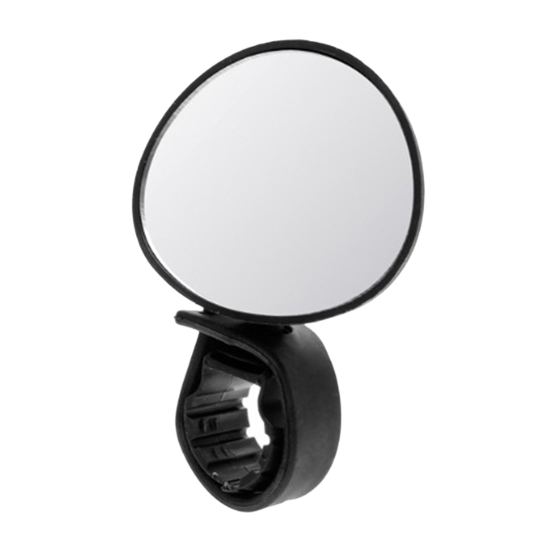 1 Pcs 360 Degree Rotating Handlebar Convex Mirror Bicycle Rearview Mirror - Black