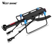 WEST BIKING Bicycle Luggage Rack Cargo Carrier Rack Cycling Shelf Seatpost Bags Holder For 20 29 Inch Bike Rear Rack With Fender