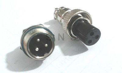ФОТО 20set 3-Pin XLR 12mm Audio Cable Connector adapter Chassis Mount