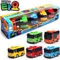 Venta caliente 1:43 modelo de coche 5 unids/set autobús tayo niños miniatura mini bebés de plástico pequeño tayo juguete modelo de autobús
