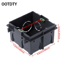 Black PVC 86-Type Junction Box Wall Mount Cassette For Switch Socket Base