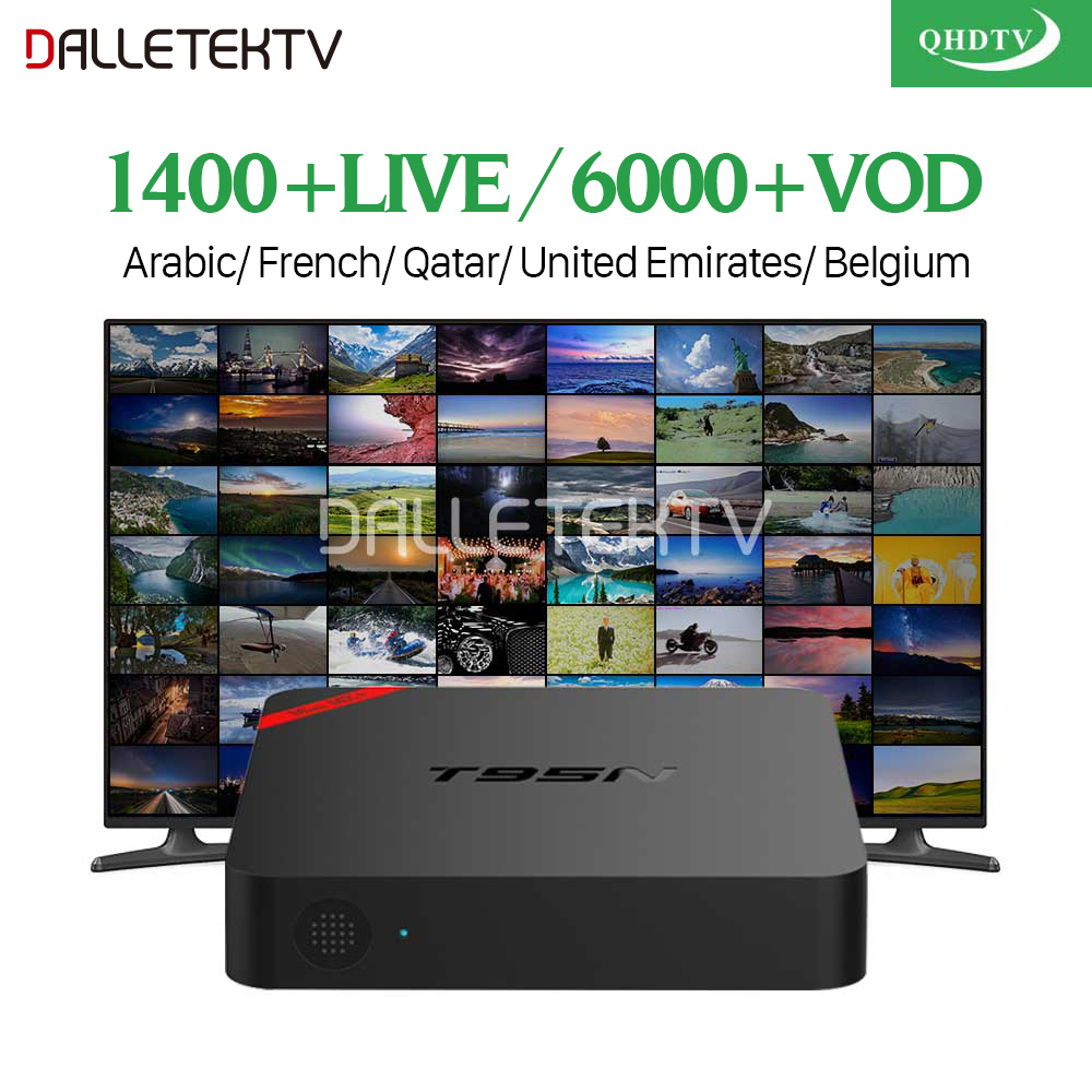 T95N Android Arabic France IPTV Box Amlogic S905X Quad Core 4K Media Player with QHDTV IPTV France Arabic Belgium Dutch IP TV цена 2017