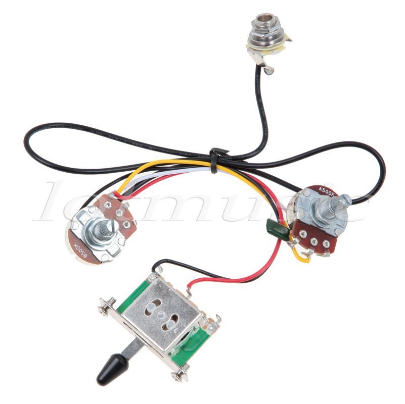5Sets Two Pickup Guitar Wiring Harness 3 Way Blade Switch 500K Great with Humbuckers aliexpress com buy 5sets two pickup guitar wiring harness,3 way guitar wiring harness at readyjetset.co