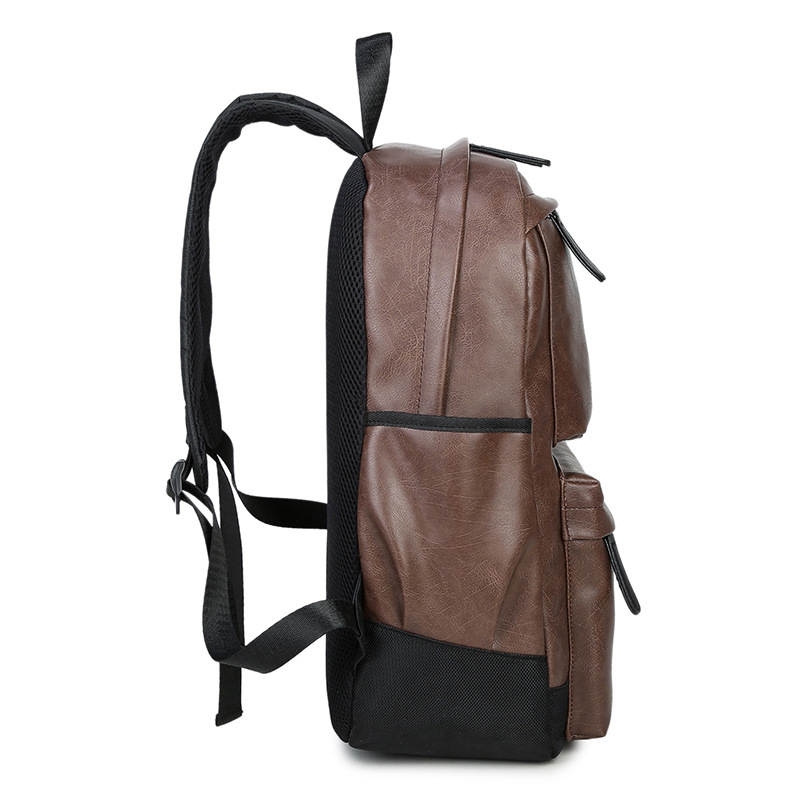 Image 3 - Waterproof Women's bag Schoolbag PU leather Female Male Backpack Fashion Travel a Bag Pack for Teenage Girls Rucksack Mochila-in Backpacks from Luggage & Bags