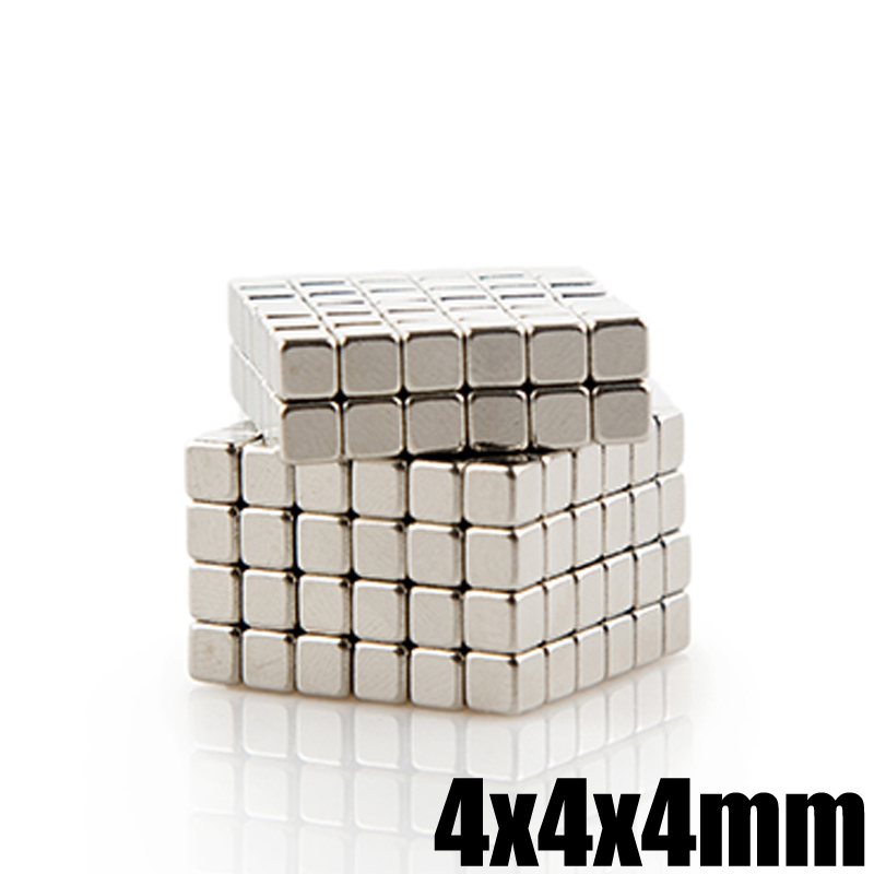 где купить 50Pcs 4x4x4mm Neodymium Magnet Block N35 Permanent Super Strong Powerful Magnetic Magnets Square NdFeB Buck Cube дешево