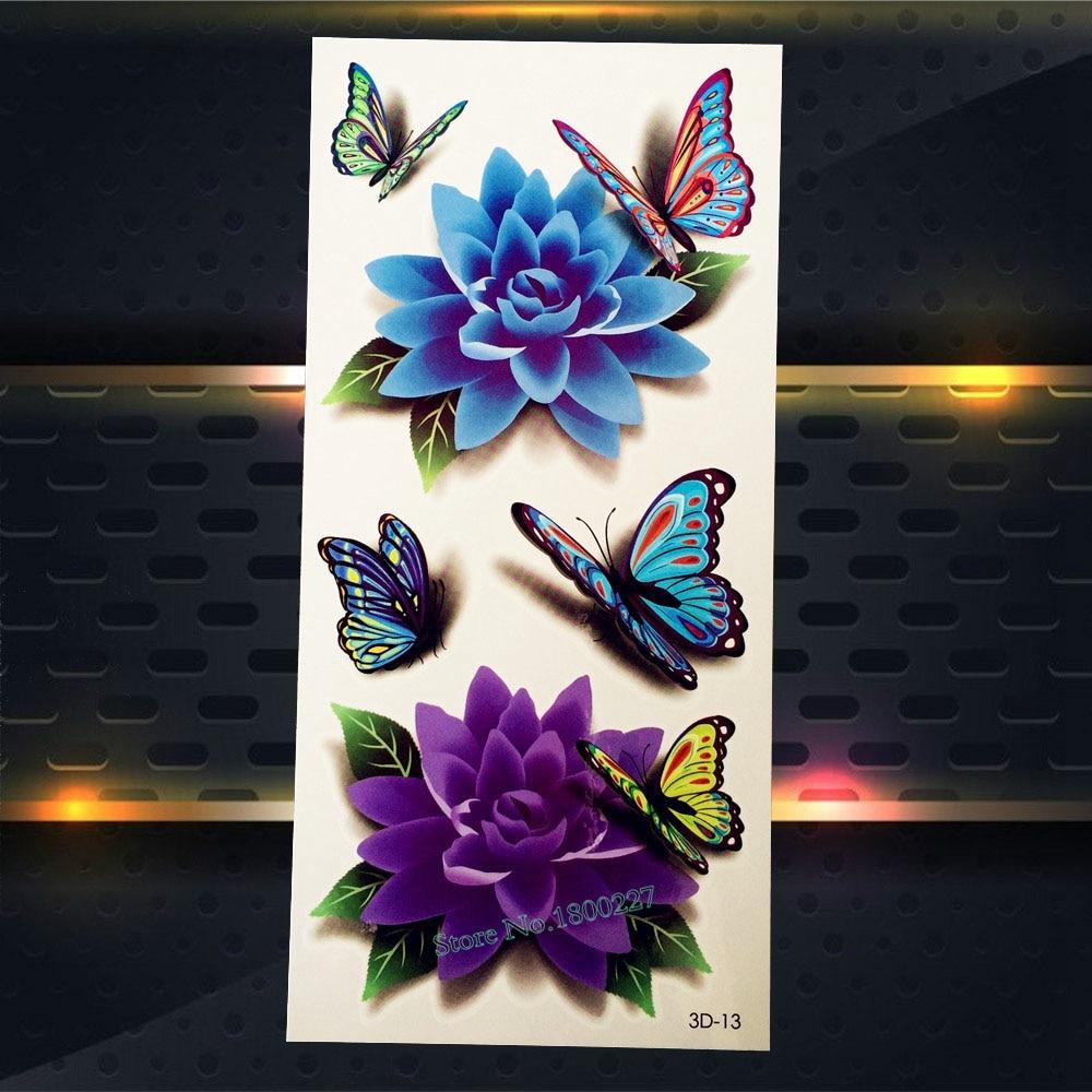 Lace Butterfly Temporary Tattoo Kids Women Body Arm Tattoo Stickers 17x10CM Fake Flash Waterproof Tattoo Butterflies Choker
