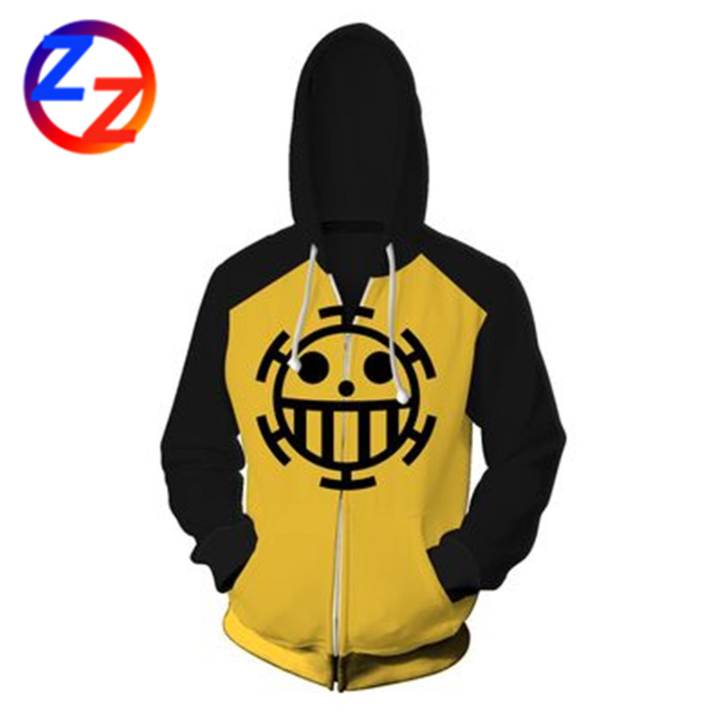 Dropshipping One Piece Hoodies  Trafalgar Cosplay 3D Hoodies For Spring and Autumn Pullovers Anime Funny Cartoon Hoodies