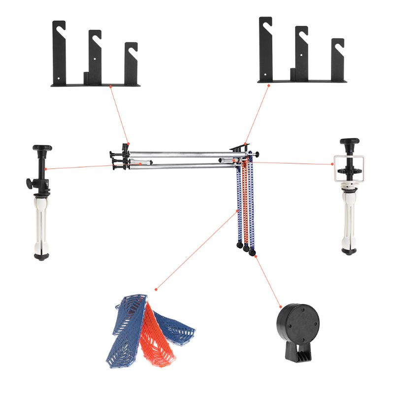 Photography 3 Roller Wall /Light Stand Mounting Manual Background Support System photographic background support elevator ng 3w manual control studio background support manual three shaft background cd50