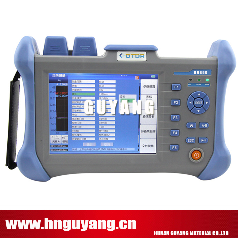 HN300A 5.6inch touchscreen Optical Time Domain Reflectometer 120km SM OTDR 1310/1550nm 30/28DB with 10mw VFL ...