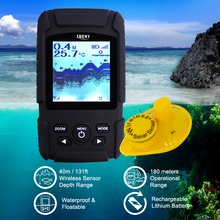 FF-718Li-W LUCKY Rechargeable Wireless Fish Finder Waterproof Fishfinder Monitor Sonar Sensor Fish Depth Alarm