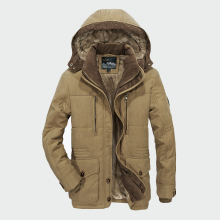 Men Winter Coats Fleece Warm Thick Jackets Men Outerwear Win