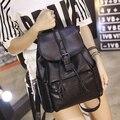 Solid Women Backpack Women Backpack PU Leather Shoulder Bag Casual Backpacks Female Travel Bag School Bags