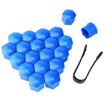 ESPEEDER 20 piezas 21mm rueda de neumático de coche cubiertas del cubo tapas de protección cubiertas para tuercas de rueda tuerca tapas Protector de tornillo de cubo a prueba de polvo perno de borde 2