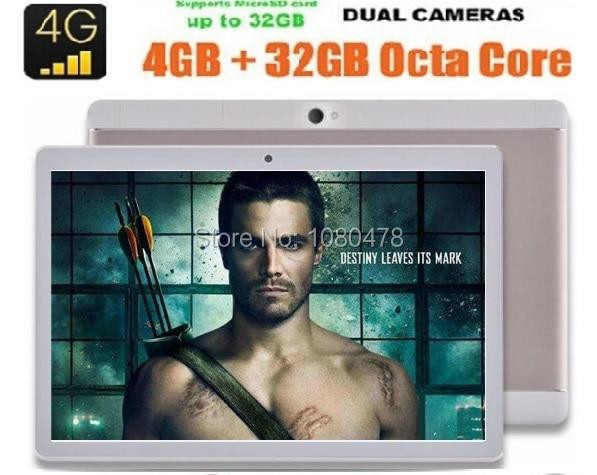 2017 Новейший планшетный пк 10 дюймов Octa Ядро Android 6.0 3 Г 4 Г LTE 4 ГБ RAM 64 ГБ ROM Dual Sim-карты IPS 1920*1200 ПК таблетки 10.1