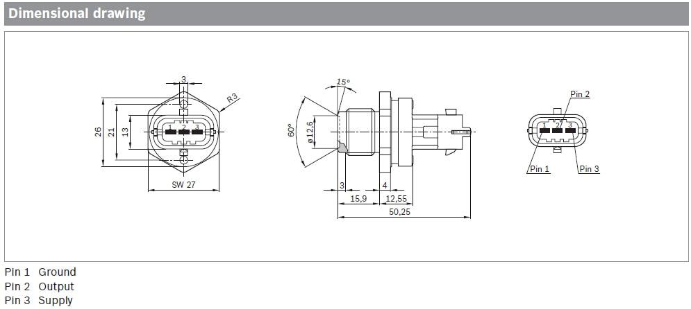 Diesel Common Rail CR Fuel Pressure Regulator Sensor For Chevrolet C4500  C5500 Silverado HD 6 6L Duramax 97361561 0281002921