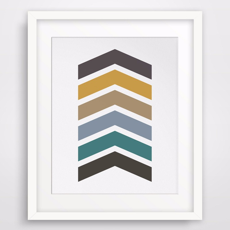 photo about Arrow Printable referred to as Incredibly hot Colourful Chevron Print Wall Artwork Arrow Print Printable