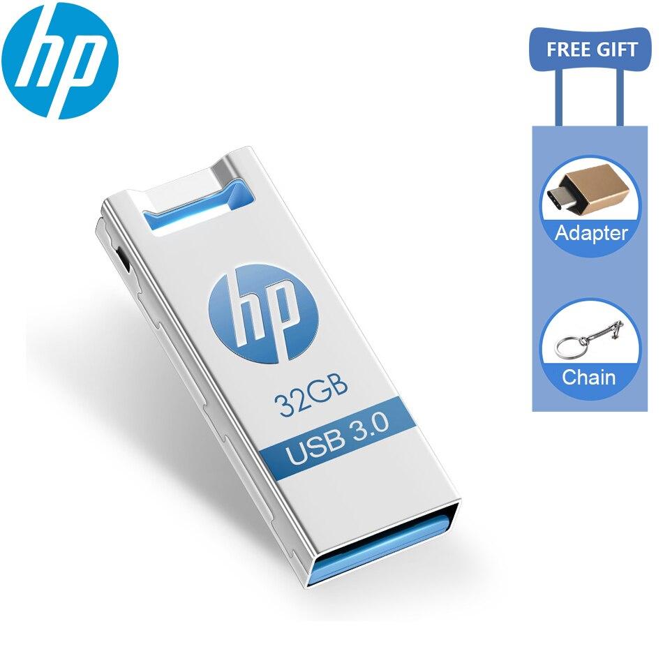 Оригинальный HP X795W Металлический Высокоскоростной USB 3,0 USB флеш-накопитель водонепроницаемый пыленепроницаемый флеш-накопитель 16 ГБ 32 ГБ 64 Г...