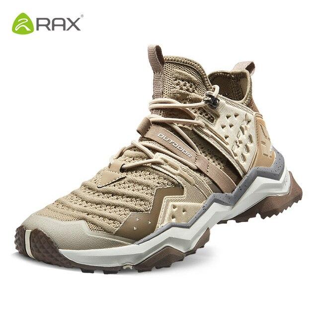 Rax Men Breathableเดินป่ารองเท้ากลางแจ้งTrekkingรองเท้าบุรุษกีฬารองเท้าผ้าใบMountainรองเท้าลื่นWakingรองเท้า