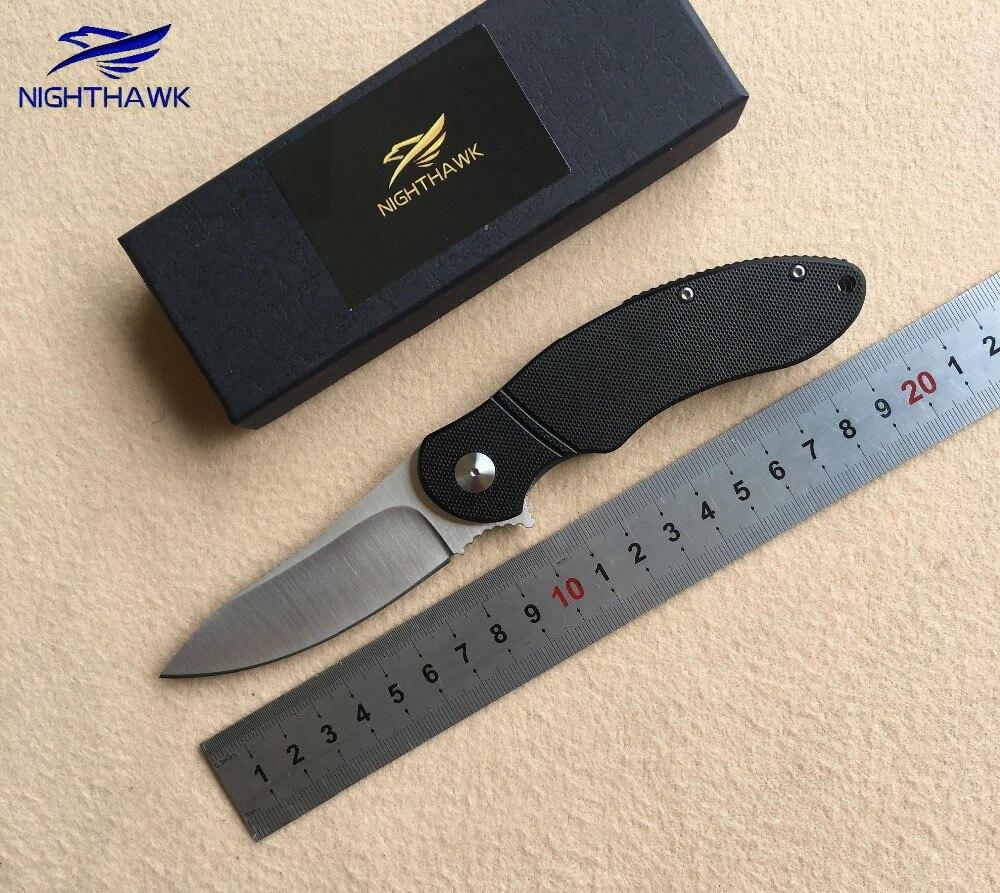 NIGHTHAWK ST005 Flipper couteau pliant 9Cr18MOV lame G10 poignée de chasse pratique camping survie couteaux de poche EDC outils Cser
