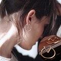 Nueva Moda de Oro y Color Plata Simple Cirlce Stud Pendientes Para Mujer punk oído pendientes Joyería brincos bijoux 8695