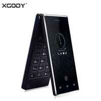 In Stock XGODY P11 Dual Screen Key Flip Phone Touch Andorid 5 1 1G 8G Clamshell