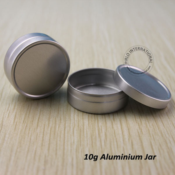 50pcs/lot Aluminium Cosmetic Jars Metal Cream Containers With Screw Lid Silver Tin Refillable Bottles Candle Can Empty Box