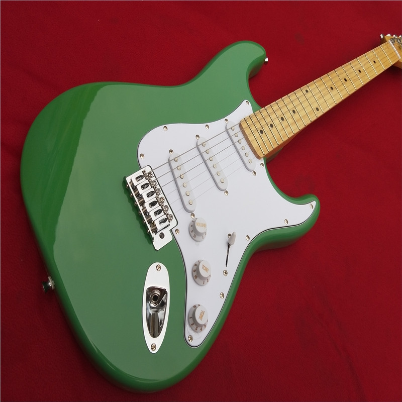 free shipping factory custom shop 2017 new best price light green kpole f st electric guitar. Black Bedroom Furniture Sets. Home Design Ideas