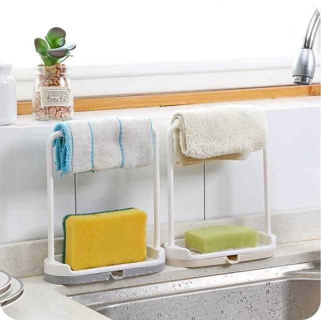 Kitchen Bathroom Countertops Storage Racks Dust Sheets Dish Drain Shelfs Free Punch Towels Cloth Rag