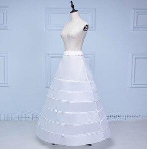 Image 3 - Lace Edge 6 Hoop Petticoat Underskirt For Ball Gown Wedding Dress 110cm Diameter Underwear Crinoline Wedding Accessories