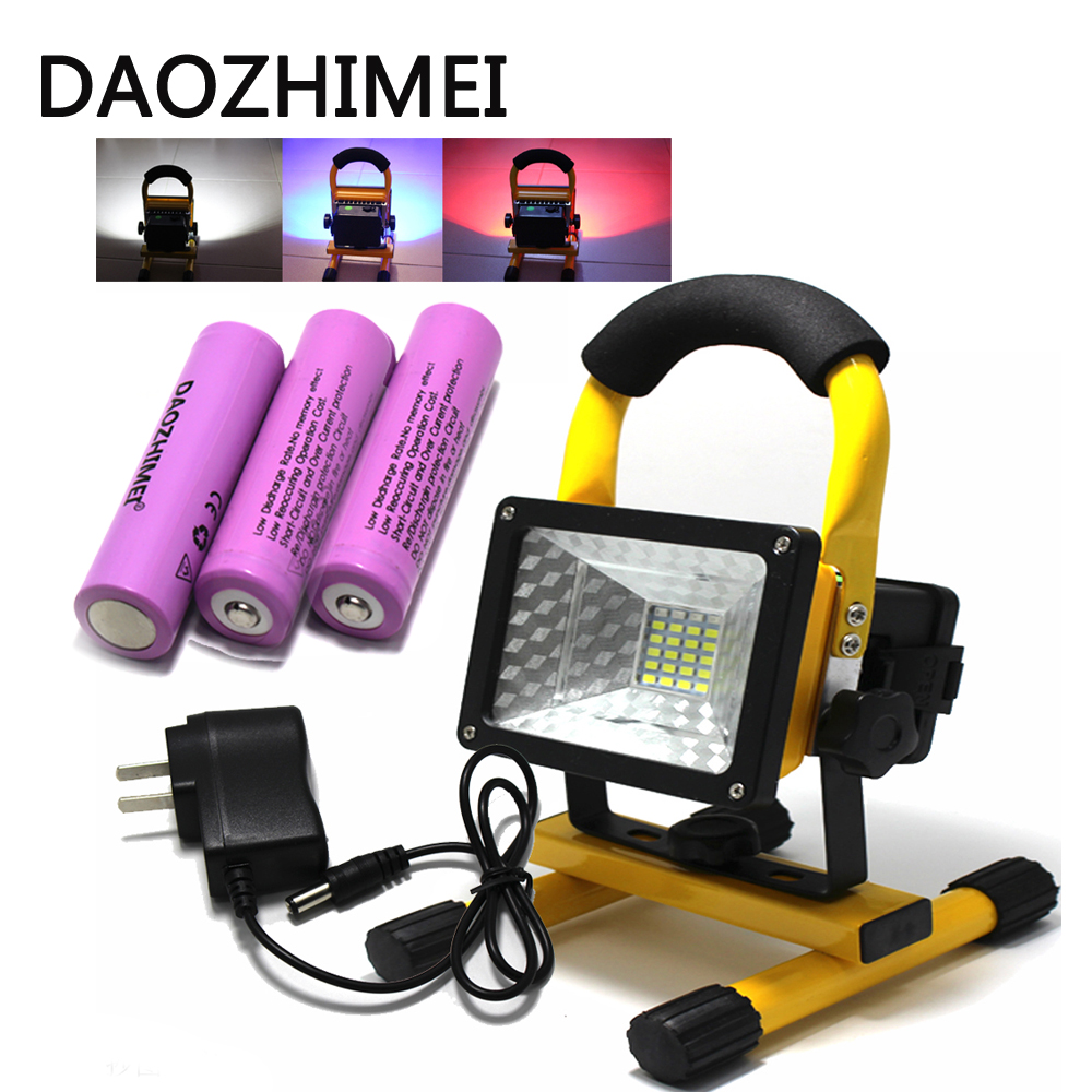 Waterproof IP65 24LED 3 Modes 30W LED Flood light Portable SpotLights Rechargeable Outdoor LED Work Emergency light
