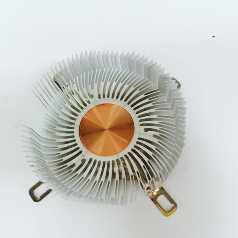 Image 4 - DIY радиатор процессора 87,2*85,2*24,5 мм чистый алюминиевый радиатор для Светодиодный кулер Охлаждение процессора медный сердечник радиатора-in Вентиляторы и охлаждение from Компьютер и офис