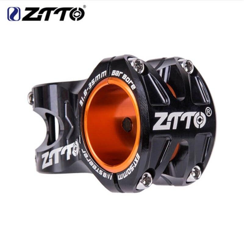 ZTTO vtt 50mm tige CNC 35mm 31.8mm guidon vélo ultra-léger 0 degrés hauteur DH AM tige Enduro 28.6mm Steerer VTT