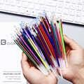 100 יח'\שקית 0.7mm צבעים ג 'ל עט מילוי סט להחלפה צבעוני פלאש נצנצים עט מילוי לכתיבה DIY ציור גרפיטי