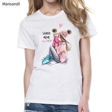 Camisetas verano mujer 2019 super mom tshirt femme summer fashion graphic tees women harajuku vogue  t-shirt female shirt