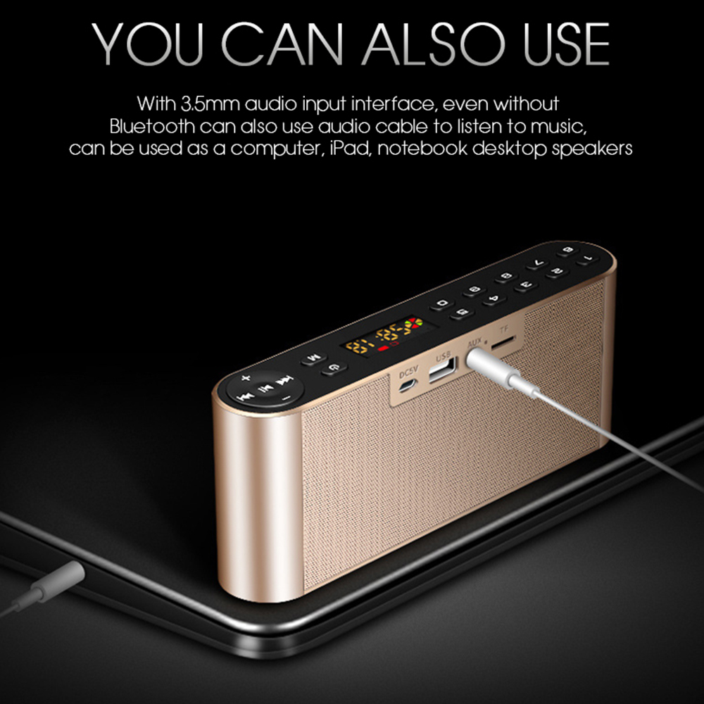 TOPROAD HIFI Bluetooth Speaker Portable Wireless Super Bass Dual Speakers Soundbar with Mic TF FM Radio USB Sound Box 5