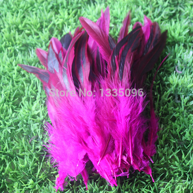 Wholesale natural <font><b>100</b></font> PCS Mei red pretty rooster feathers 15 to <font><b>20</b></font> cm / 6 to 8
