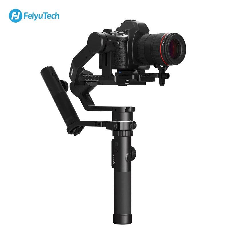 FeiyuTech Kit de stabilisateur de cardan à main 3 axes AK4500 pour appareil photo reflex numérique Sony/Panasonic/Canon avec trépied de poteau à distance suivre Fcous