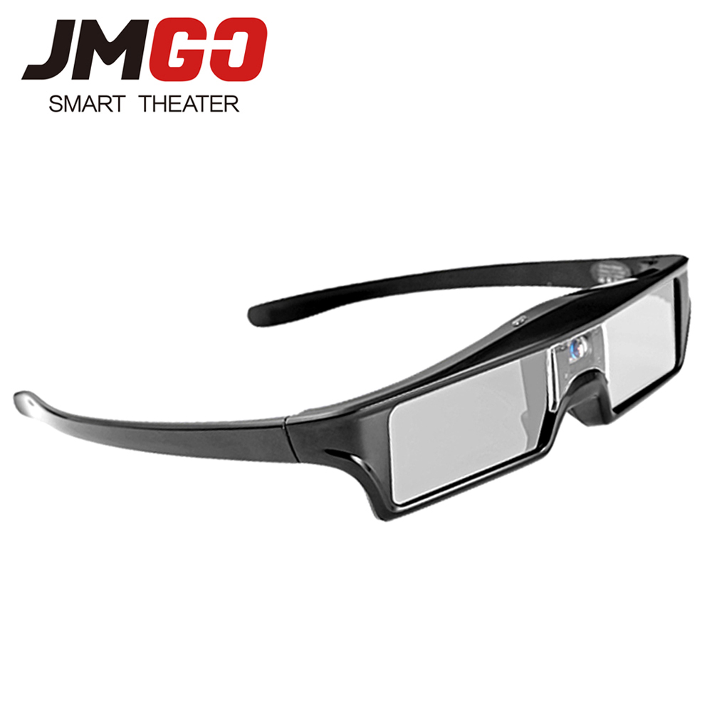 JMGO Active Shutter 3D Glasses for DLP Projector, Built-in Lithium Battery Support DLP LINK HGL2 sg08 dlp 3d shutter glasses for dlp link projector black