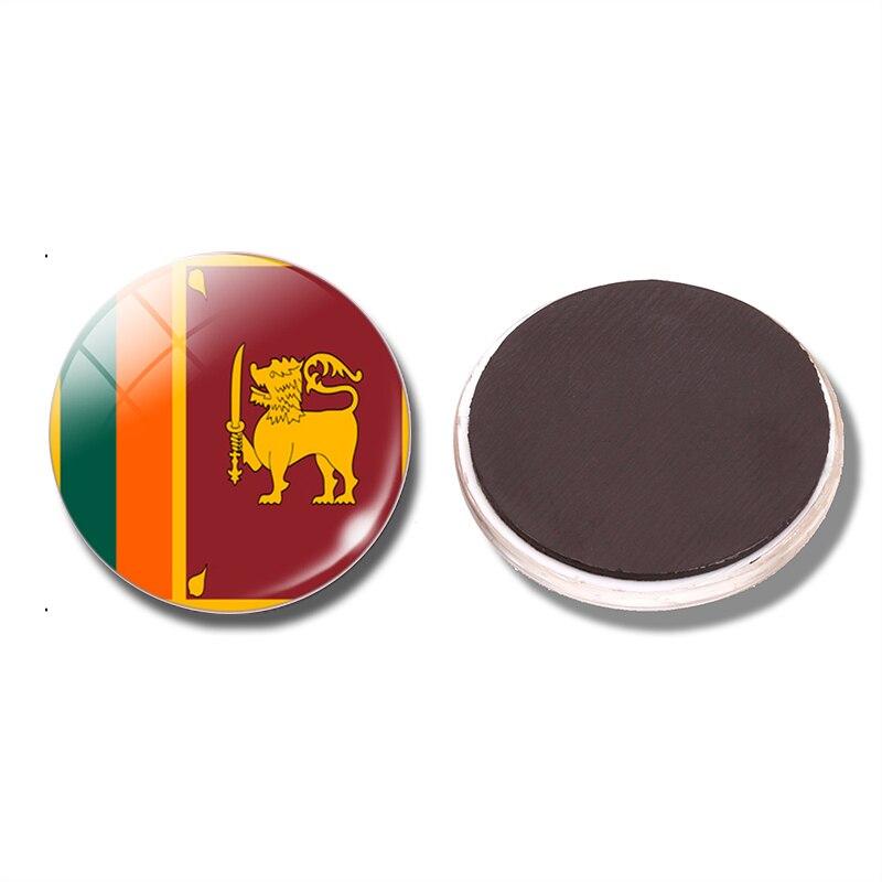 Democratic Socialist Republic Of Sri Lanka Flag 30 Mm