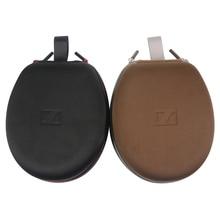 De alta calidad Caja de Almacenamiento De Disco Lleva la Caja Para Sennheiser MOMENTUM On-Ear Headphones 22*17.5*9 cm de Color Marrón negro