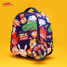 Fashion Cartoon Children Waterproof Backpack Kindergarten Girls Boys Schoolbag Neoprene Kid Animal Printing School Bag Zoo Pack(China)