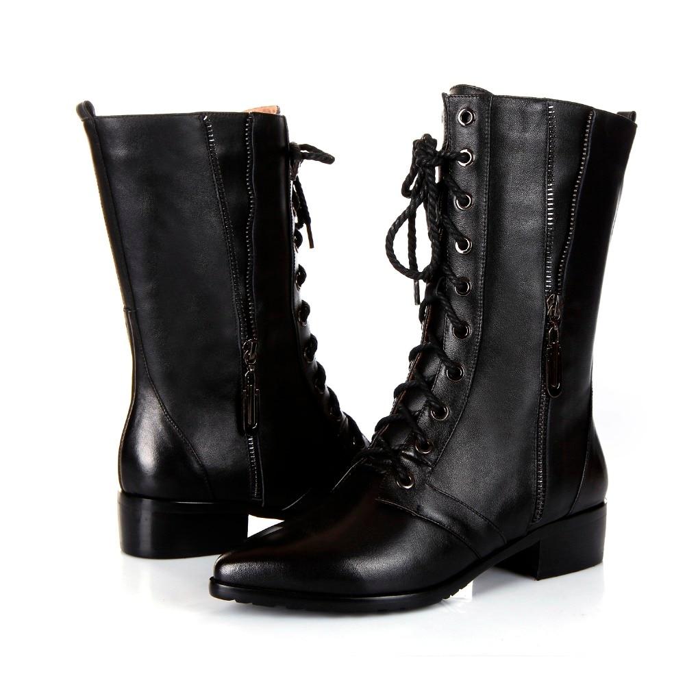Femmes Véritable Bottes De Nouveau Croix Chaussures 2019 Noir En Matin Orteil Black Liée Glissière Mode Demi D'hiver Cuir Pointu dZS4dPw