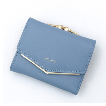 Women's Elegant Leather Wallet Bags and Wallets Women's Wallets Color: Blue