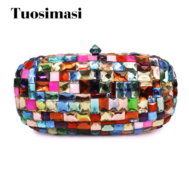 Multi color  Evening Bag Clutch diamond  Women handbag party purse clutch bag luxury crystal clutch handbag women evening bag wedding party purses banquet