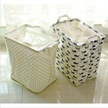 Ванная комната складной грязные корзины для белья для одежды, хранения корзины для игрушек закуски полосой деревьев кит точка хлопок белье ALLD079