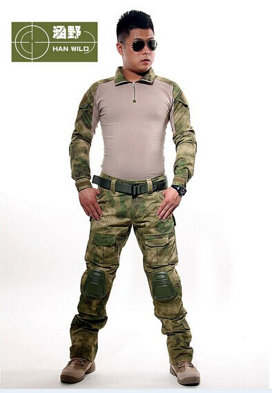 ФОТО us army military uniform for men 3AT-FG frog clothing corset belt brace ruins Green jungle CP gray  ACU DD uniform jacket+pants