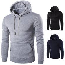 Hoodies & Sweatshirts tee 2017 casual men hoodie cotton fashion gray supreme  pullover Free courier with XXXL