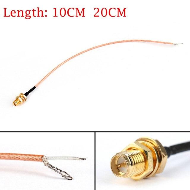 Areyourshop RG178 RP SMA Nữ Lên PCB Hàn Pigtail Cable Cho WIFI Không Dây THẤP MẤT Jack Cắm 10 cm 20 cm