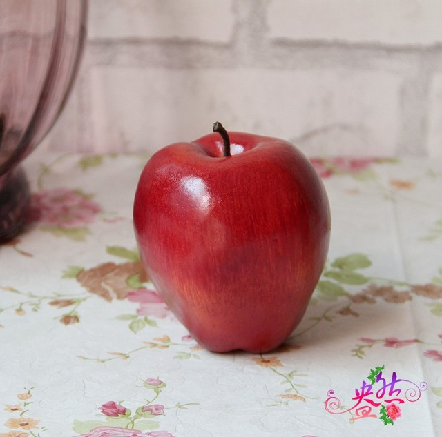 10pcs/lot real touch artificial apple fruits kitchen fake fruit