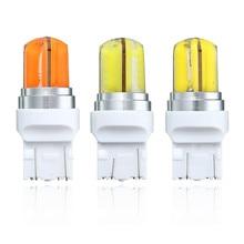 2 шт. Свет автомобиля Лампа Супер яркий 360 градусов удара силикагель T20 W21W 7440 авто свет лампы